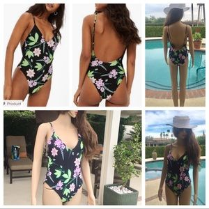 BNWT Topshop multi floral one piece